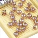 Beads, Selenial Crystal, Crystal, Violet AB, Faceted Discs, 8mm x 8mm x 6mm, 10 Beads, [ZZC099]